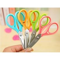 得力6052办公学生裁剪刀办公用品剪刀加宽不锈钢剪纸刀剪子裁(1)