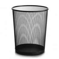 得力(deli)9189 稳固高品质铁网圆纸篓_垃圾桶
