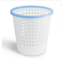 得力(deli)9554 撞色带压圈圆纸篓_垃圾桶