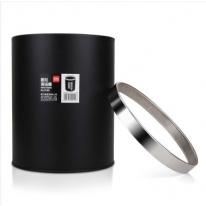 得力(deli) 9199 办公家居经典圆形直桶不锈钢垃圾桶