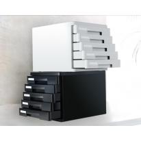 得力9773塑料桌面文件柜文件抽屉柜收纳柜A4资料柜小文件柜