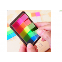 得力9060荧光膜 指示标签 抽取盒分类贴 便利贴 百事贴 索引贴