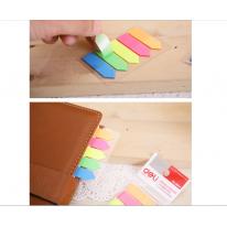 得力9064 荧光指示标签 N次贴 五色荧光指示贴 便利分类贴 索引贴