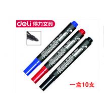 得力记号笔6884油墨快干防水不褪色 1.5mm光盘笔