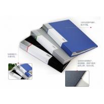 得力资料册5086 透明插页文件夹 活页资料夹塑料文件册60页