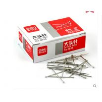 得力大头针0016 2#镀镍大头钉固定针 25mm 50g/盒