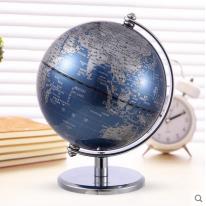 得力2160地球仪 13cm高清地图