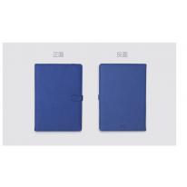得力(deli)22204扣带皮面本PU材质96页商务办公礼品 学生绑带记事本 蓝色