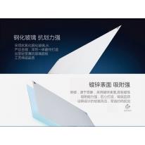 得力(deli)8740 磁性钢化1000mm*1500mm悬挂式办公/会议玻璃白板