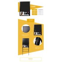 得力(deli)8733 50*70cm带架子电子荧光黑板/白板 LED灯手写广告牌/荧光板