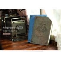 得力(deli)25K/128页布朗爵士系列经典复古皮面本/记事本笔记本子 颜色随机3179