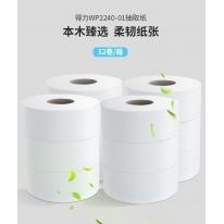 得力(deli)卫生纸 擦手纸卷纸面巾纸抽取式盘式 【10盘】盘式卫生纸(2层/240米)