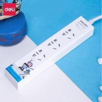得力USB插座接线板18285几米系列